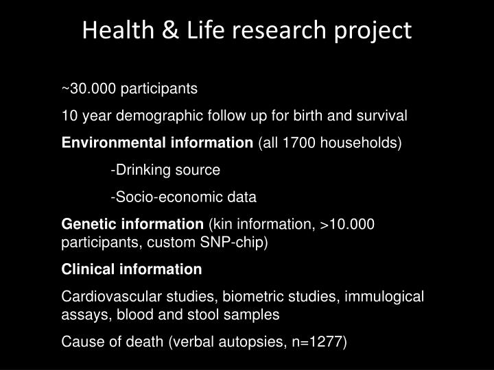 Health & Life research project