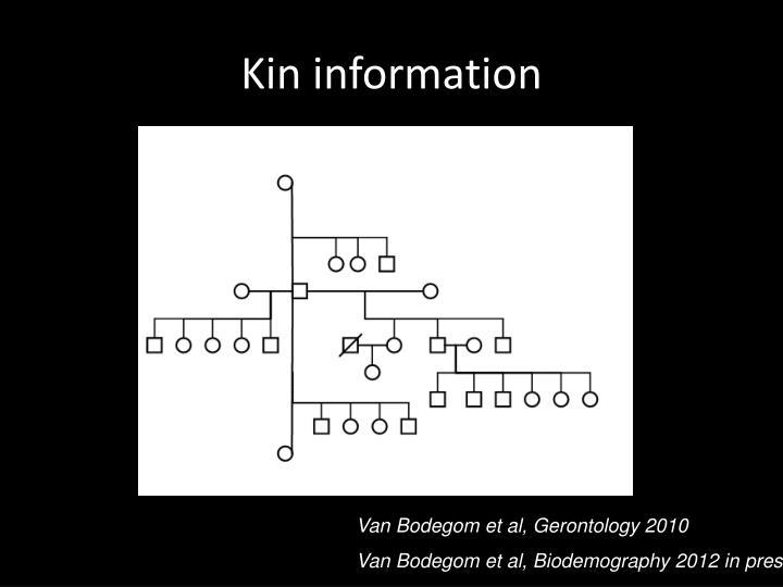 Kin information