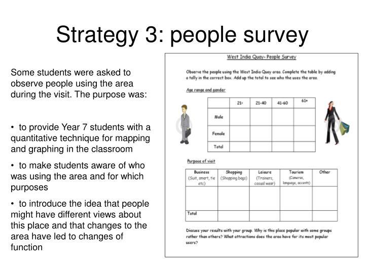 Strategy 3: people survey