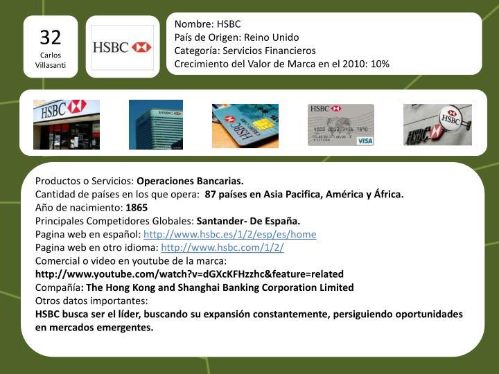 Nombre: HSBC
