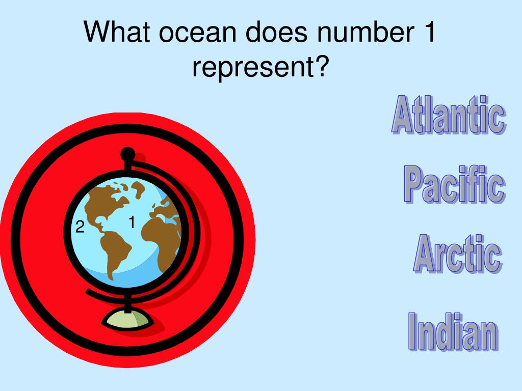 What ocean does number 1 represent?