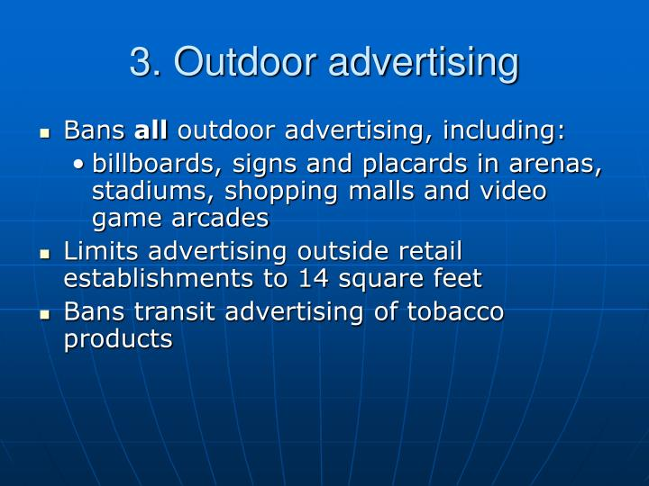 3. Outdoor advertising