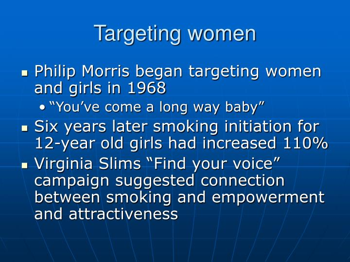 Targeting women