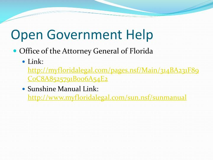 Open Government Help