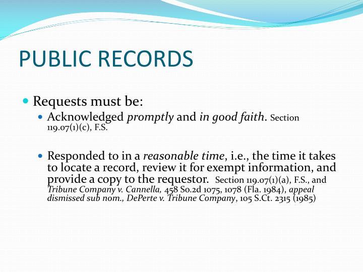 PUBLIC RECORDS