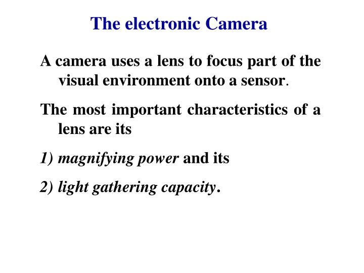 The electronic Camera
