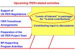 upcoming iter related activities