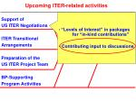 upcoming iter related activities1