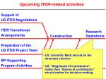 upcoming iter related activities7