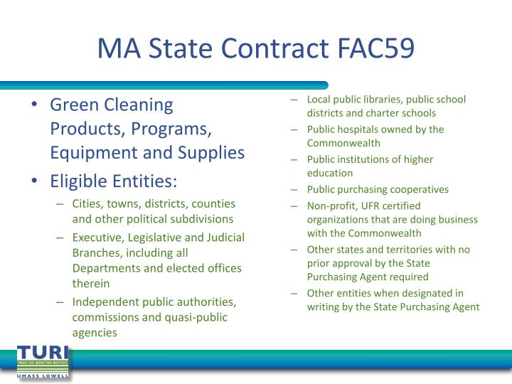 MA State Contract FAC59