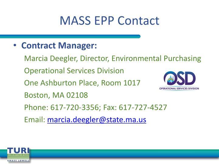 MASS EPP Contact