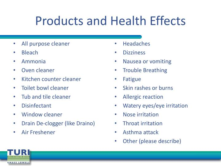 Products and Health Effects