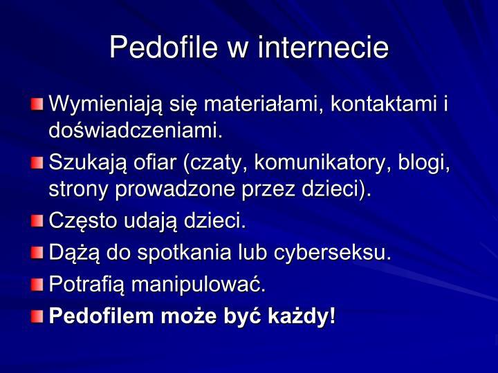 Pedofile w internecie