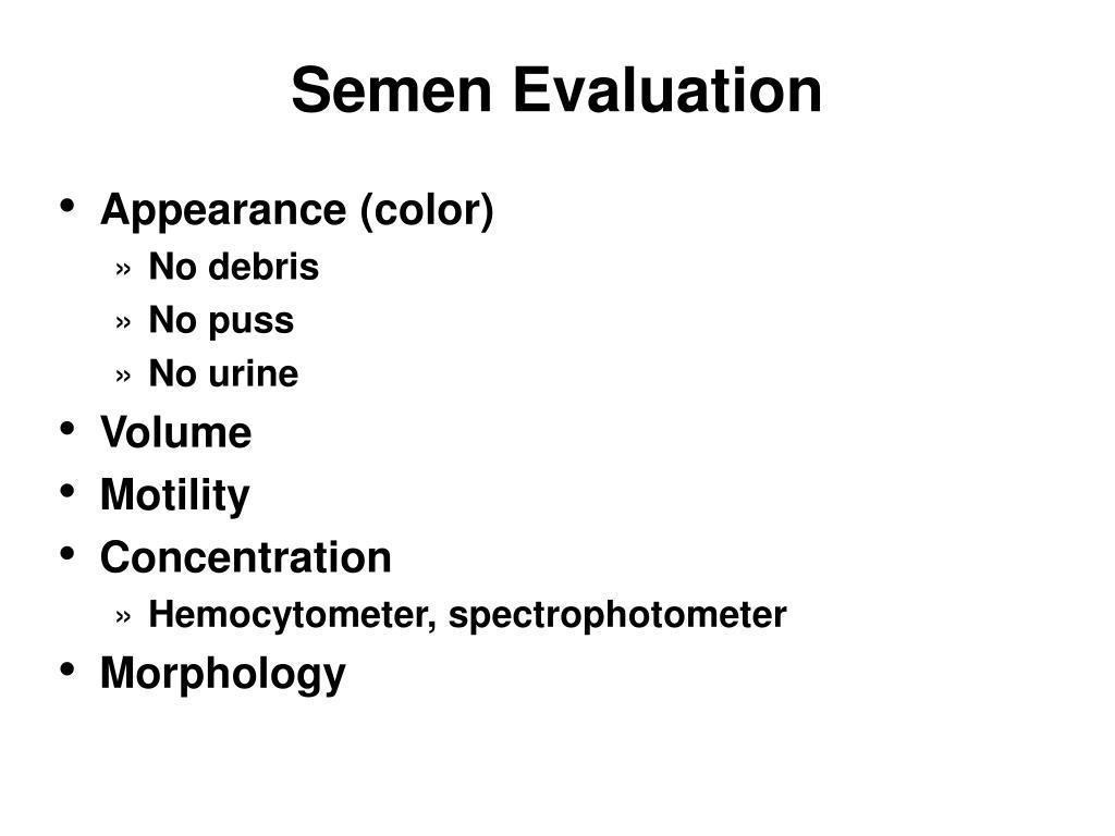 Semen Evaluation