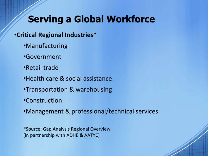 Serving a global workforce