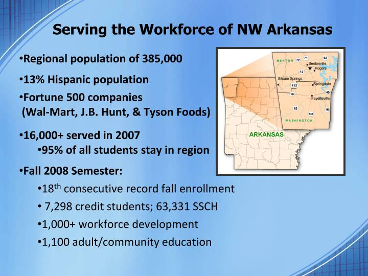 Serving the workforce of nw arkansas