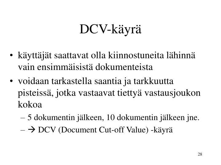 DCV-käyrä