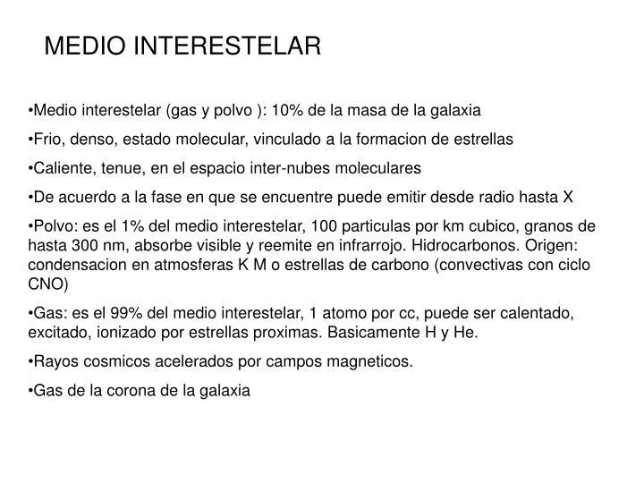 MEDIO INTERESTELAR