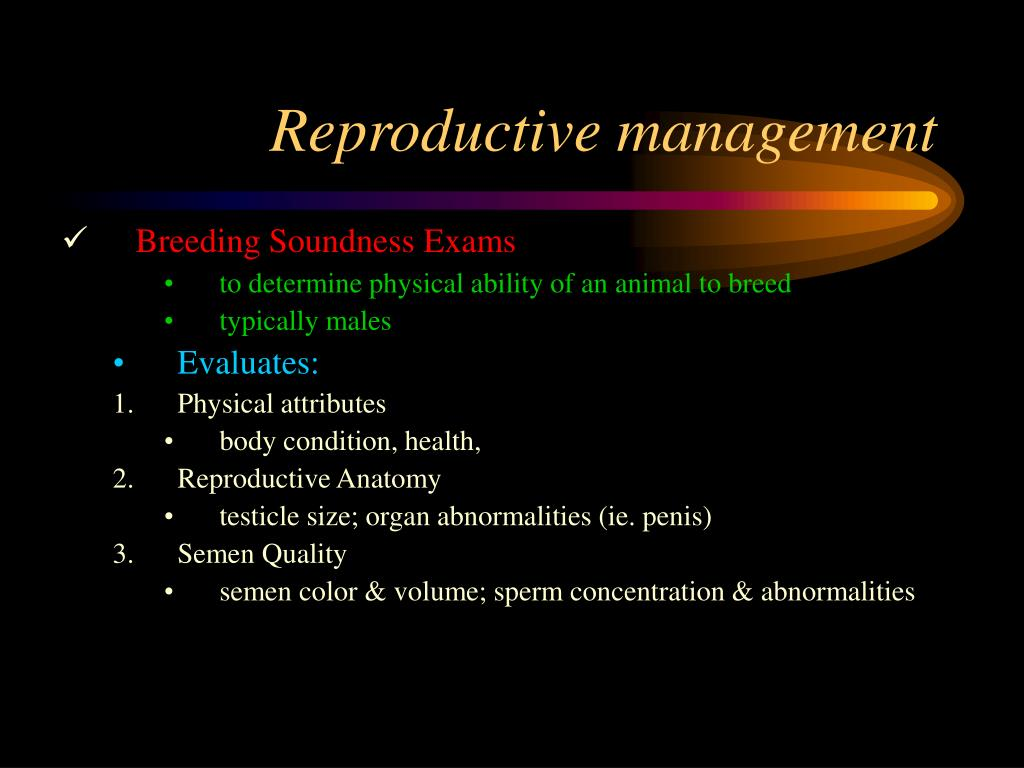 Reproductive management