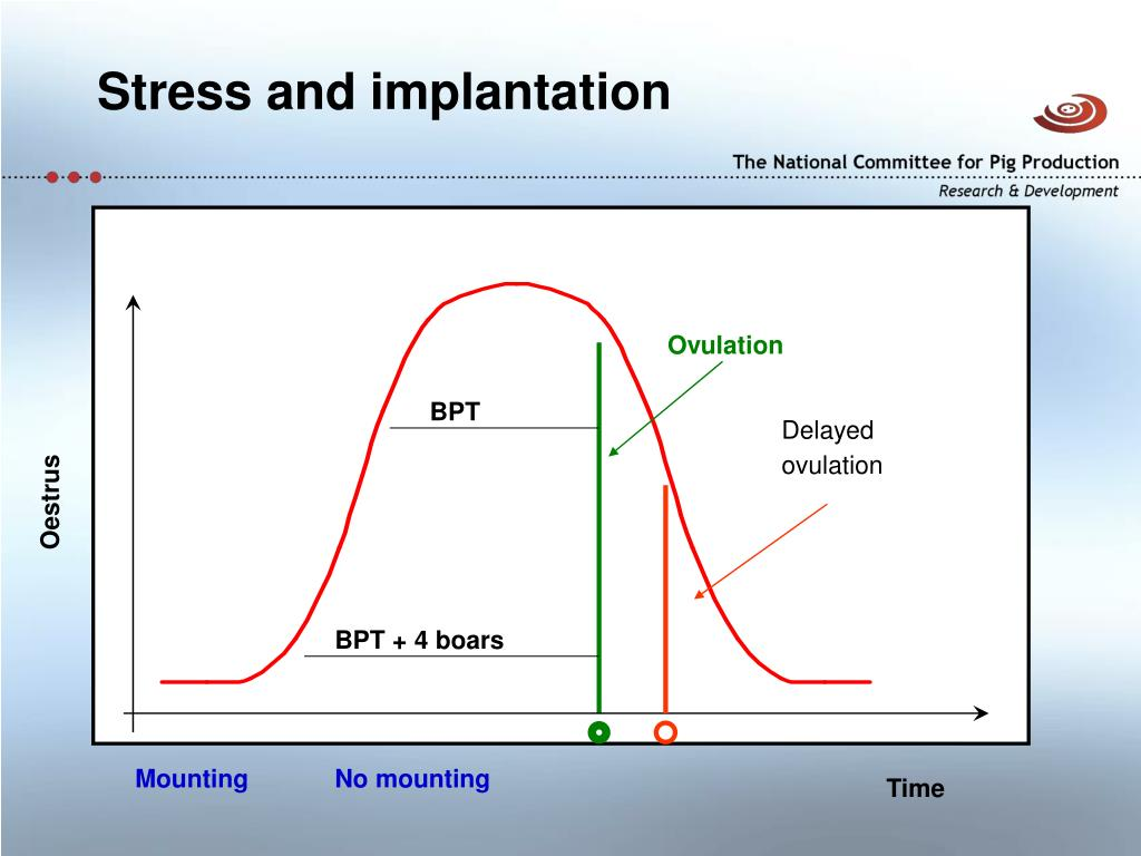 Stress and implantation
