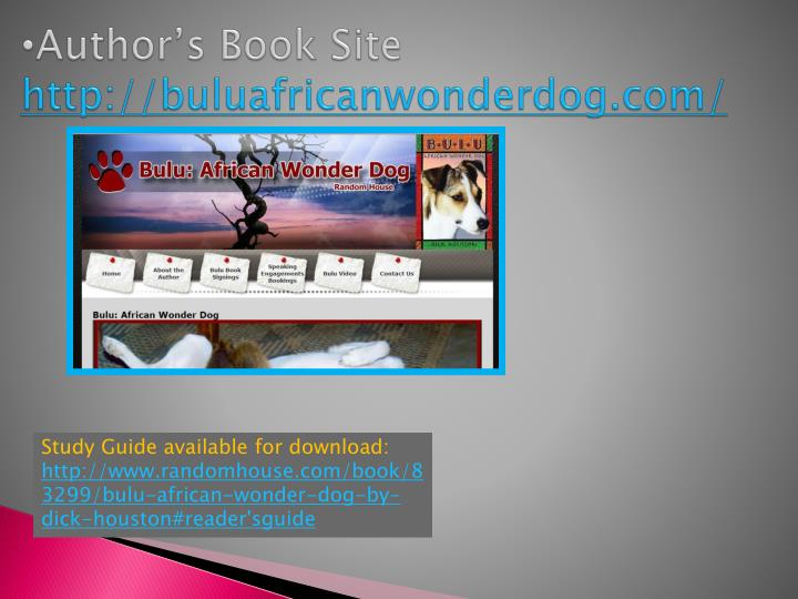 Author's Book Site