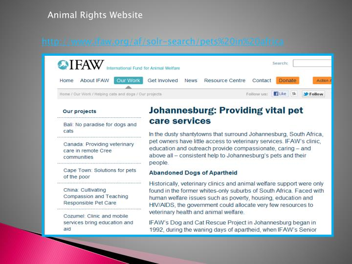 Animal Rights Website