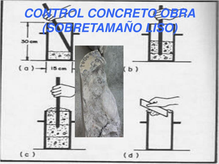 CONTROL CONCRETO OBRA