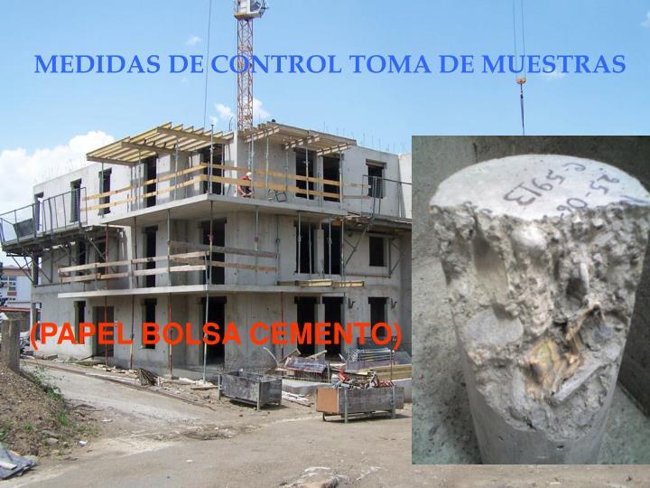 MEDIDAS DE CONTROL TOMA DE MUESTRAS