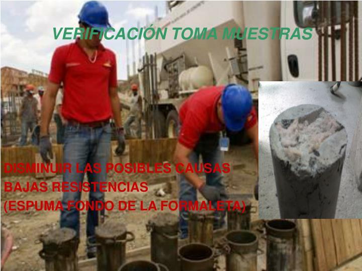 VERIFICACIÓN TOMA MUESTRAS