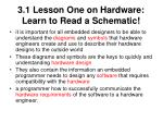 3 1 lesson one on hardware learn to read a schematic