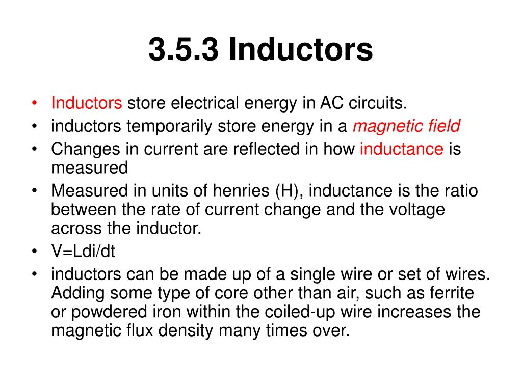 3.5.3 Inductors