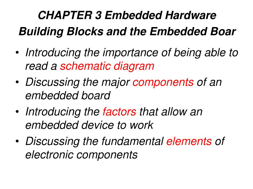CHAPTER 3 Embedded Hardware Building Blocks and the Embedded Boar