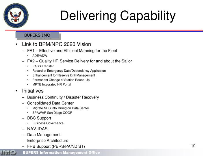 Delivering Capability