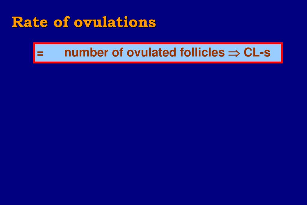 Rate of ovulations