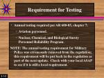 requirement for testing2