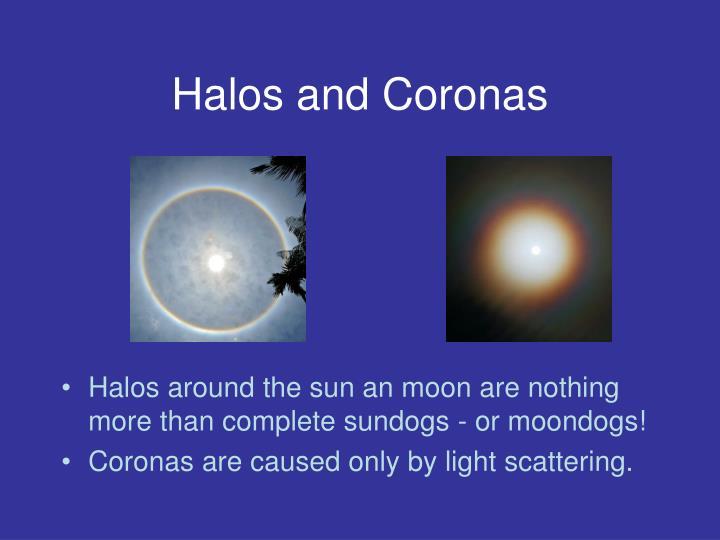 Halos and Coronas