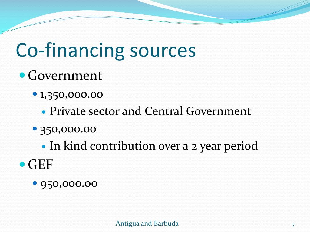 Co-financing sources