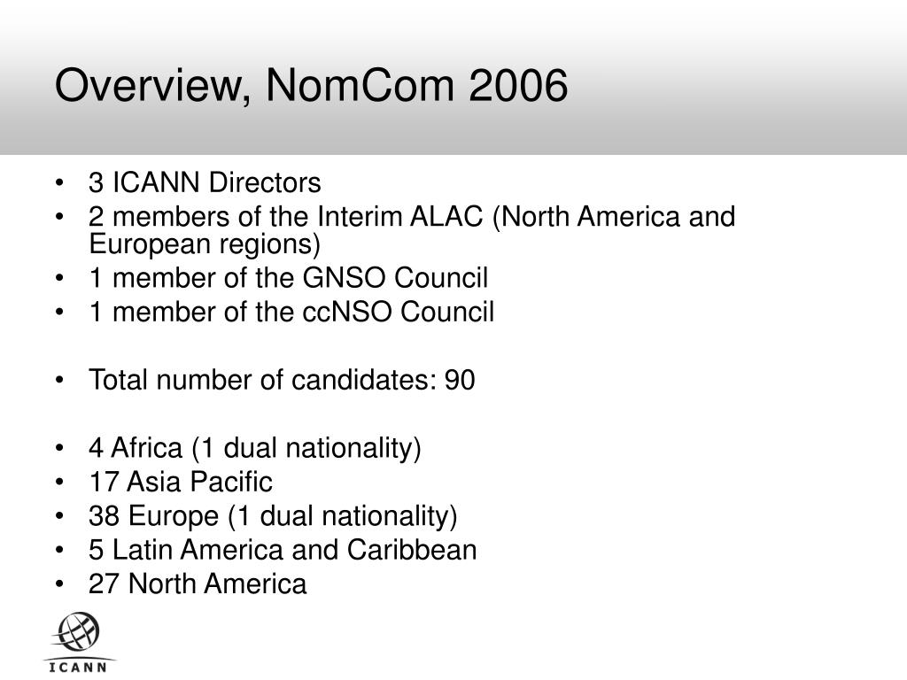Overview, NomCom 2006
