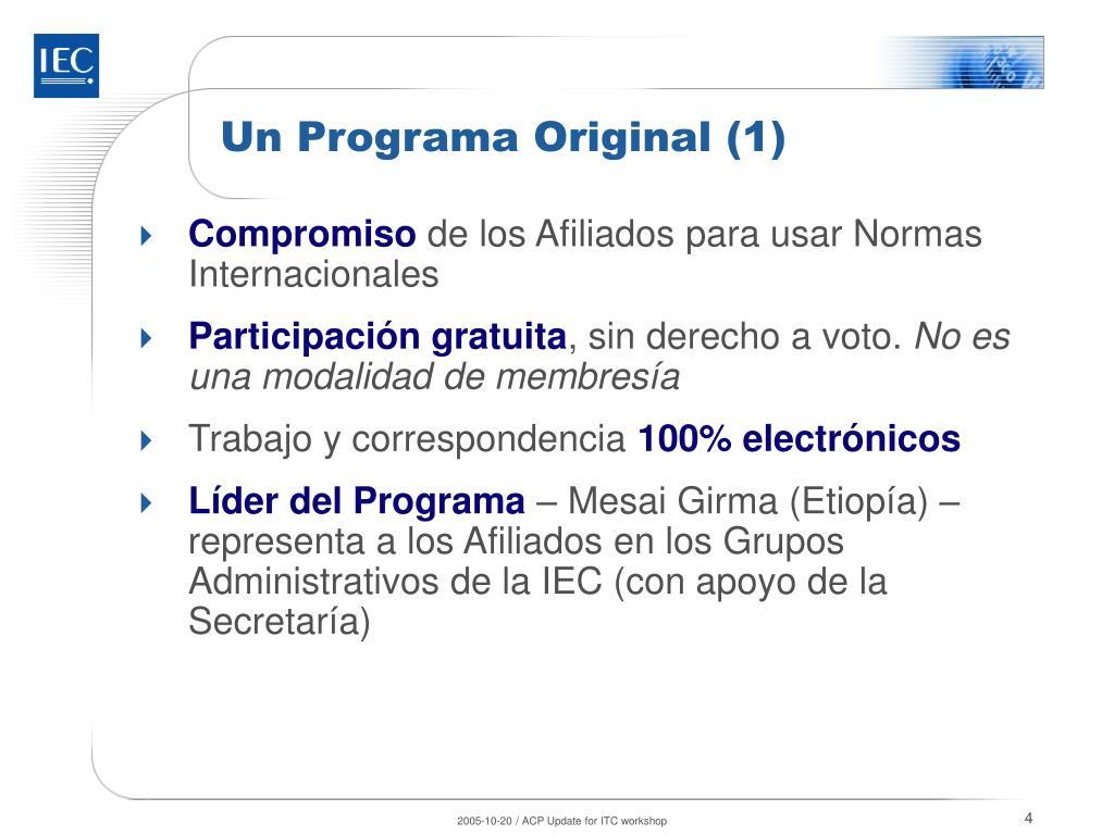 Un Programa Original (1)
