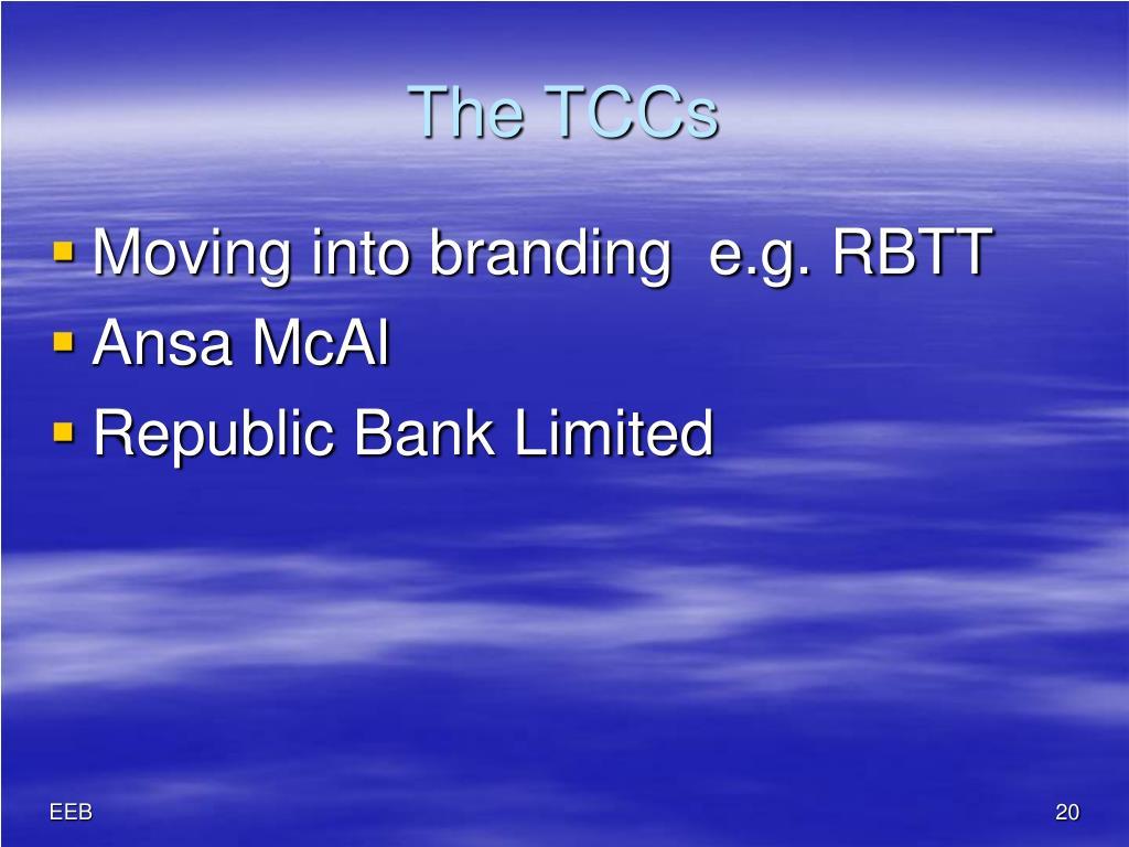 The TCCs