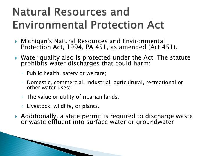 Natural resources and environmental protection act