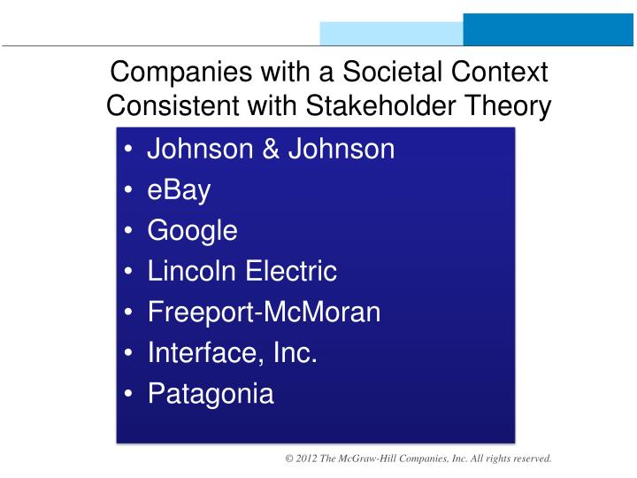 stakeholder theory google 8 bank of america journal of applied corporate finance value maximization, stakeholder theory, and the corporate objective function by michael c jensen,.