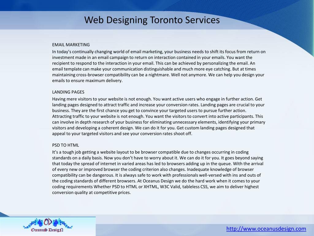 Web Designing Toronto Services