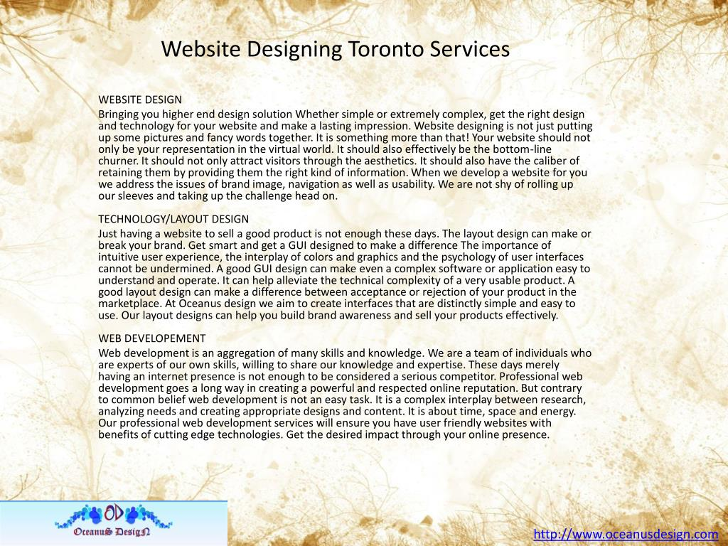 Website Designing Toronto Services