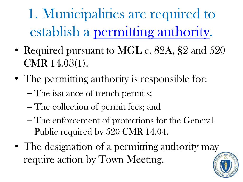 1. Municipalities are required to establish a