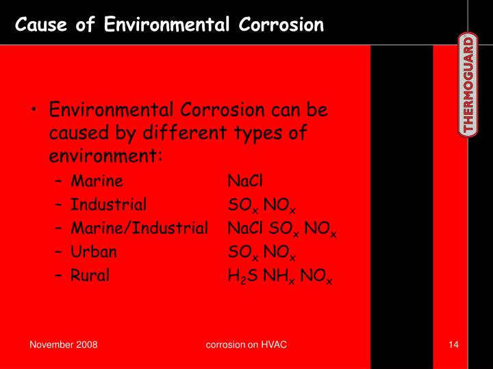 Cause of Environmental Corrosion