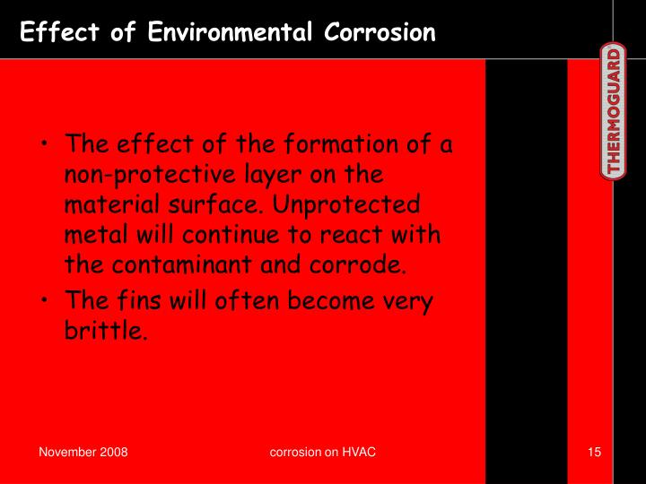 Effect of Environmental Corrosion