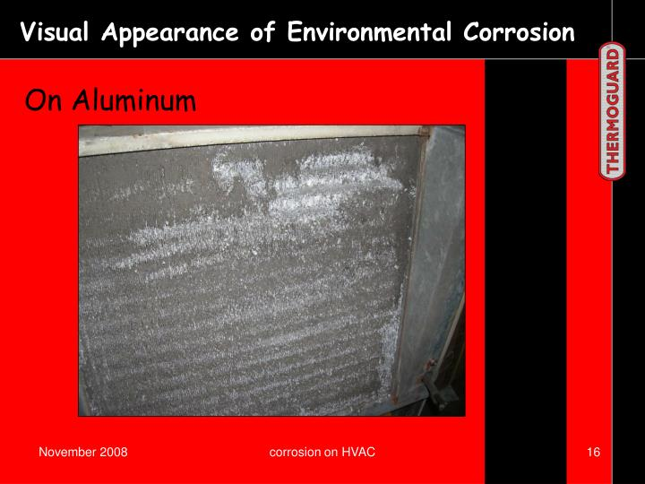 Visual Appearance of Environmental Corrosion
