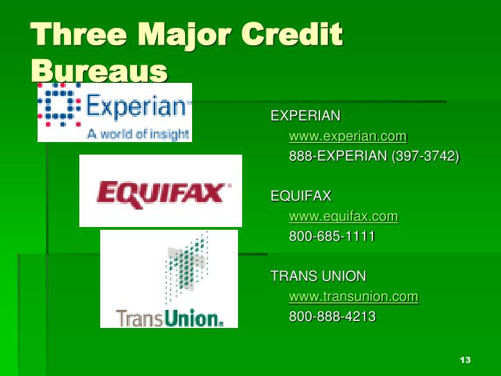 how to read a credit bureau