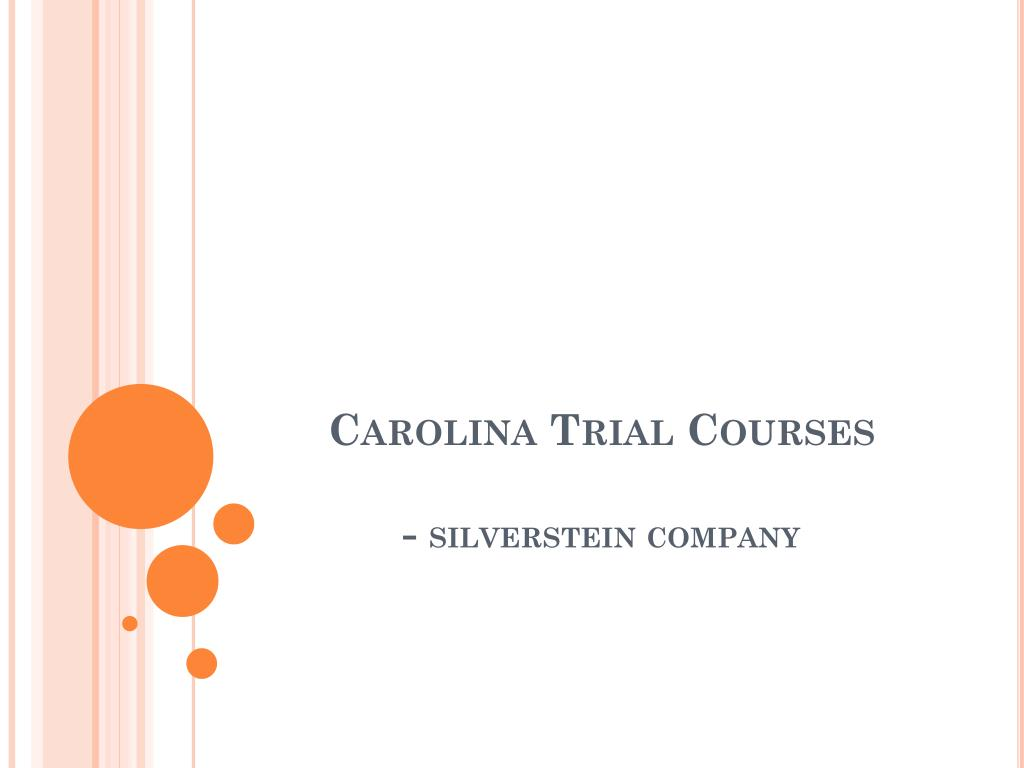 Carolina Trial Courses